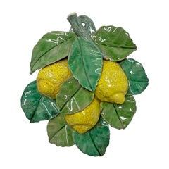 Vintage Italian Majolica Lemons