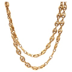 Vintage Italian Mariner's Link Chain Necklace