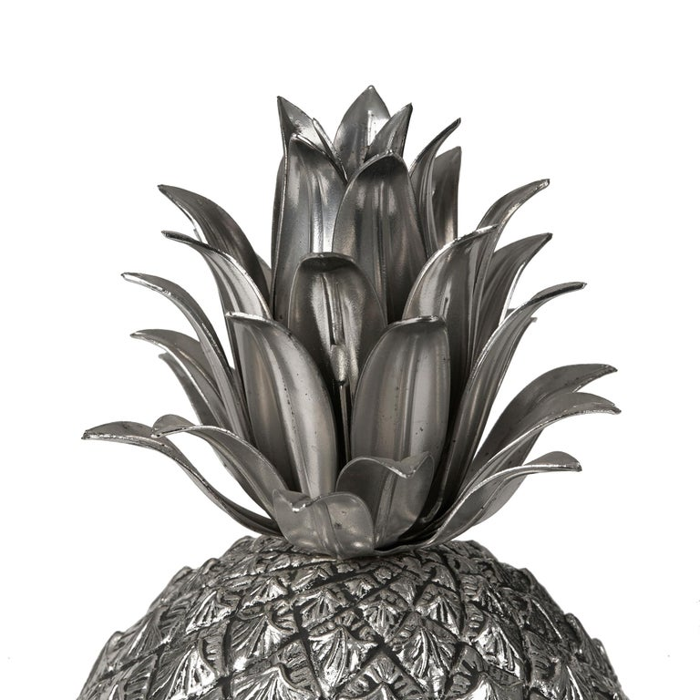 Vintage Italian Mauro Manetti Metal Clad Pineapple Ice Bucket, circa 1960 For Sale 2