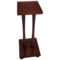 Vintage Italian Mid-Century Art Deco Walnut Wood Pedestal or Plant Stand