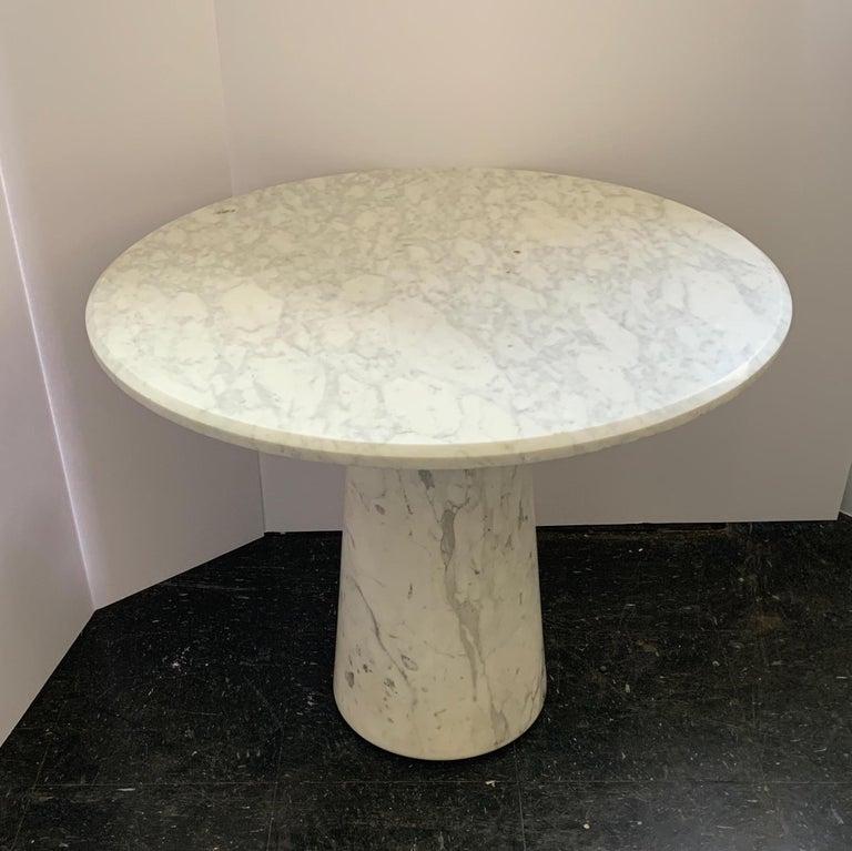 Vintage Italian Midcentury Carrara Marble Table For Sale 7
