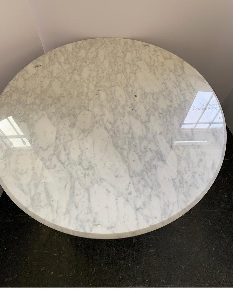 Mid-20th Century Vintage Italian Midcentury Carrara Marble Table For Sale