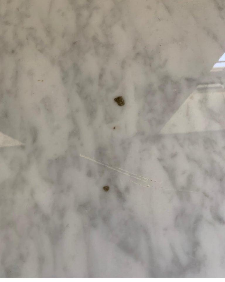 Vintage Italian Midcentury Carrara Marble Table For Sale 1
