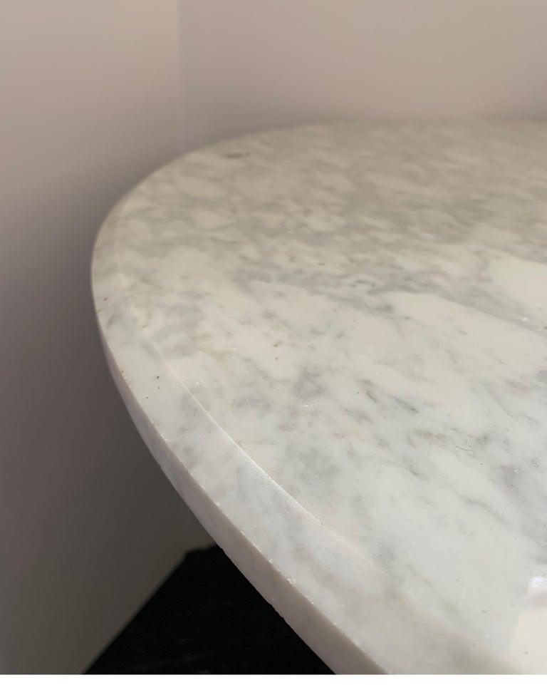 Vintage Italian Midcentury Carrara Marble Table For Sale 3
