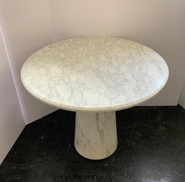 Vintage Italian Midcentury Carrara Marble Table For Sale 4