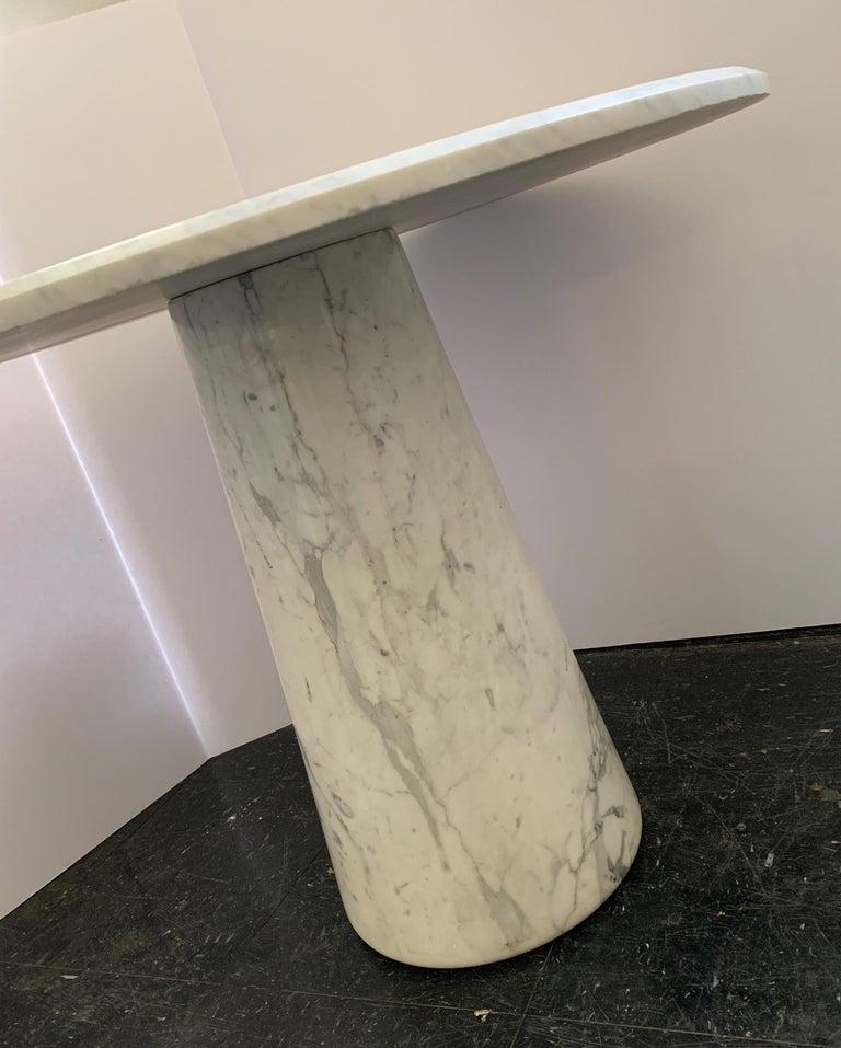 Vintage Italian Midcentury Carrara Marble Table For Sale 5