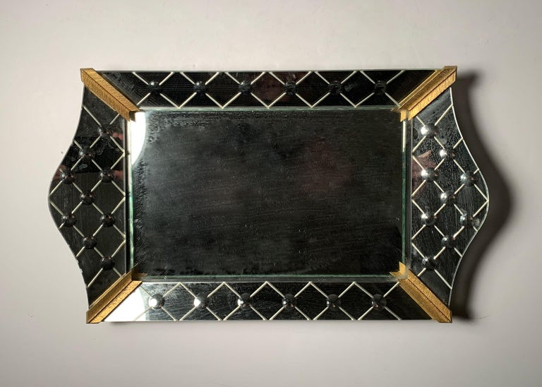Vintage Italian Mirrored Vanity Tray For Sale 2