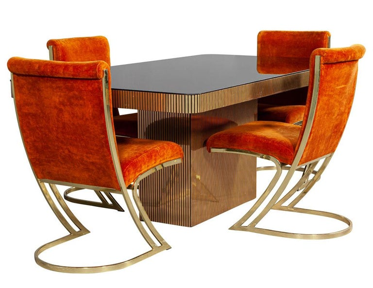 Vintage Italian Modern Mirrored Dining Table For Sale 5