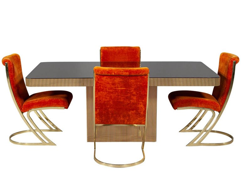 Vintage Italian Modern Mirrored Dining Table For Sale 6