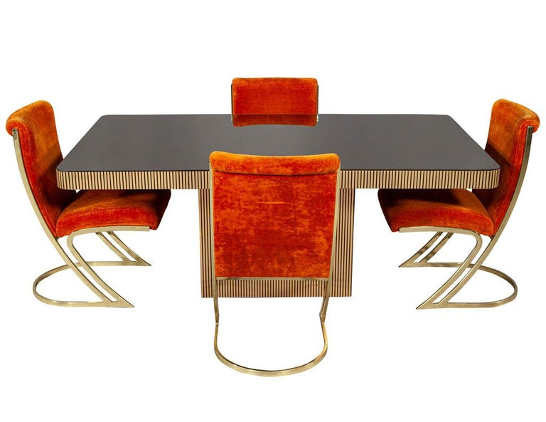 Vintage Italian Modern Mirrored Dining Table For Sale 7