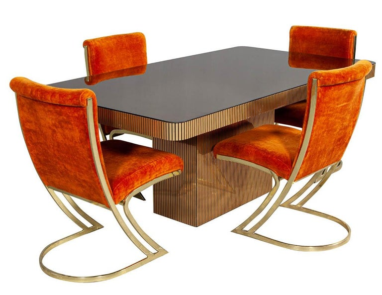 Vintage Italian Modern Mirrored Dining Table For Sale 8