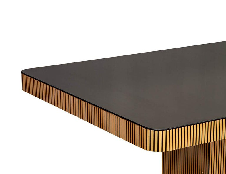 Metal Vintage Italian Modern Mirrored Dining Table For Sale