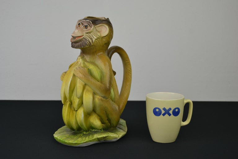 Vintage Italian Monkey Pitcher with Bananas For Sale 12