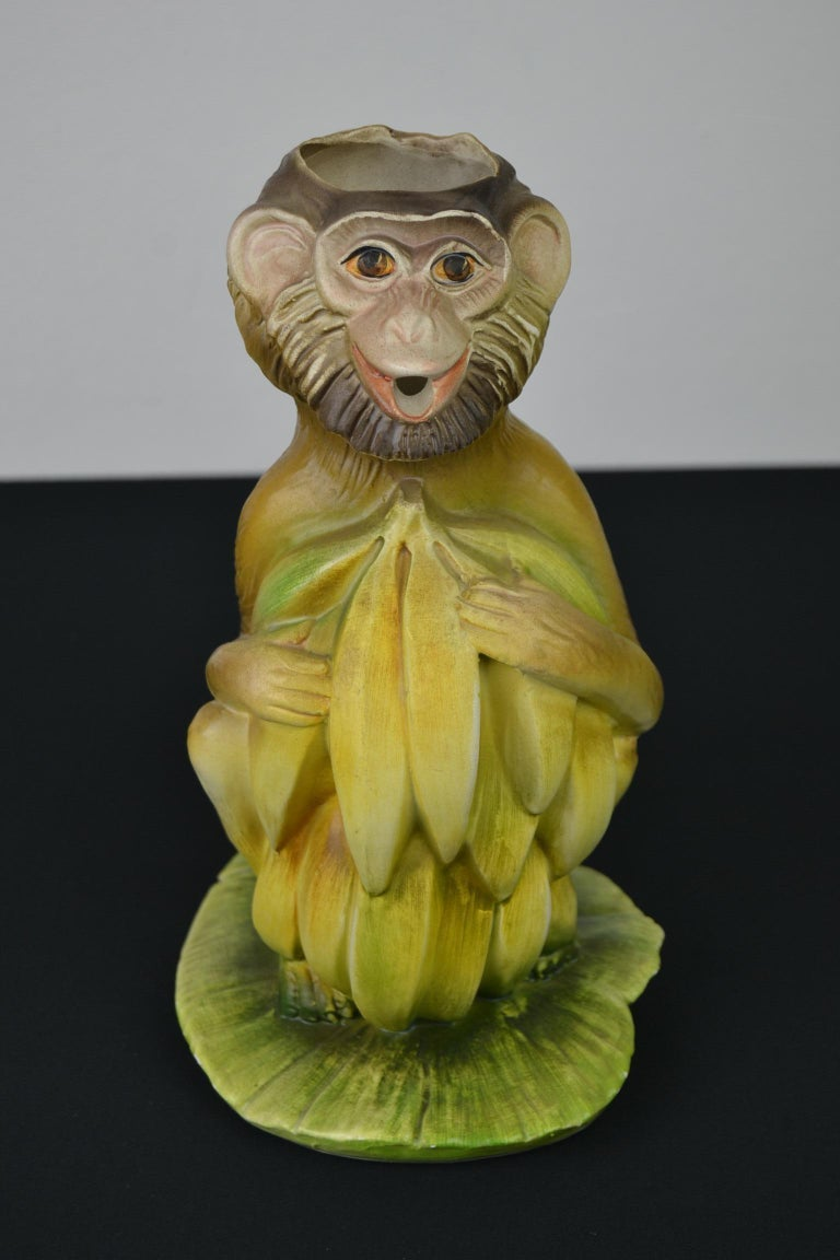 Vintage Italian Monkey Pitcher with Bananas For Sale 13