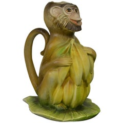 Vintage Italian Monkey Pitcher with Bananas