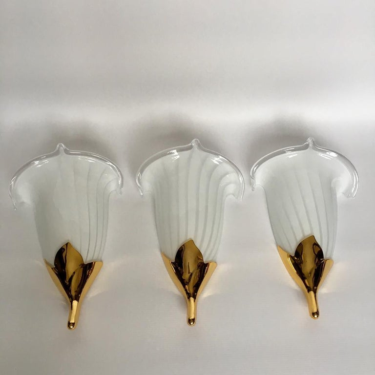 Vintage Italian Murano Glass Chandelier and Table Lamp by Franco Luce, 1970s For Sale 6