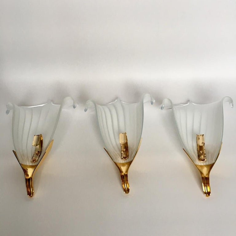 Vintage Italian Murano Glass Chandelier and Table Lamp by Franco Luce, 1970s For Sale 7
