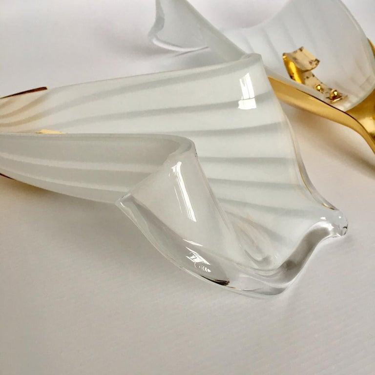 Vintage Italian Murano Glass Chandelier and Table Lamp by Franco Luce, 1970s For Sale 8