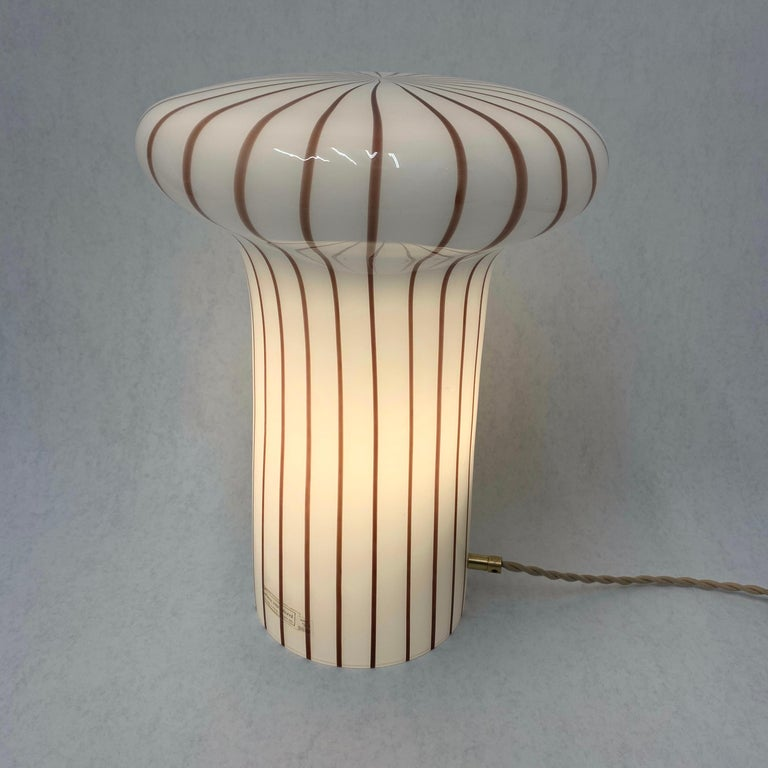 Vintage Italian Murano Glass Funghi Table Lamp For Sale 6