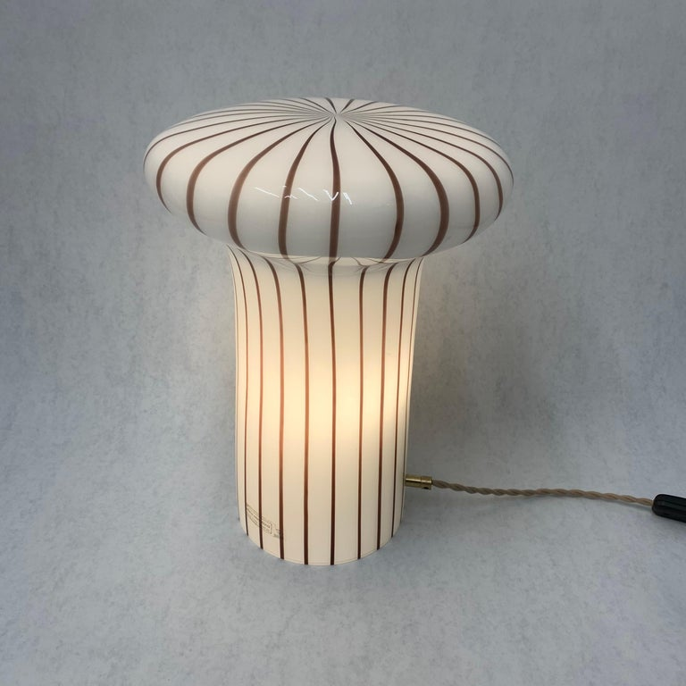 Vintage Italian Murano Glass Funghi Table Lamp For Sale 7