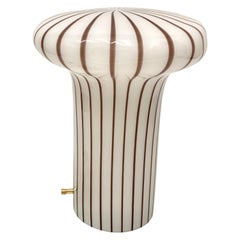 Vintage Italian Murano Glass Funghi Table Lamp