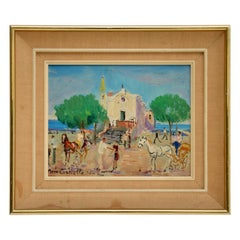 Vintage Italian Oil Painting by Mario Cortiello