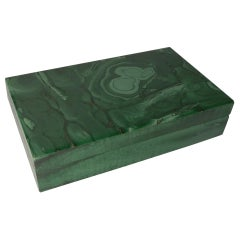 Vintage Italian Onyx, Malachite and 800 Silver Box, circa 1970