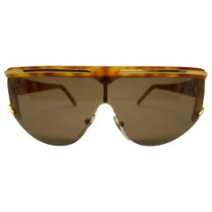 Vintage Italian Oversized Sunglasses by Valentino 1980s
