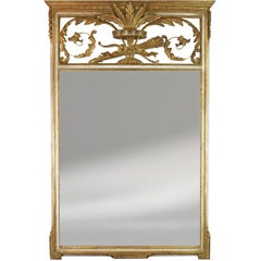 Vintage Italian Painted and Giltwood Mirror