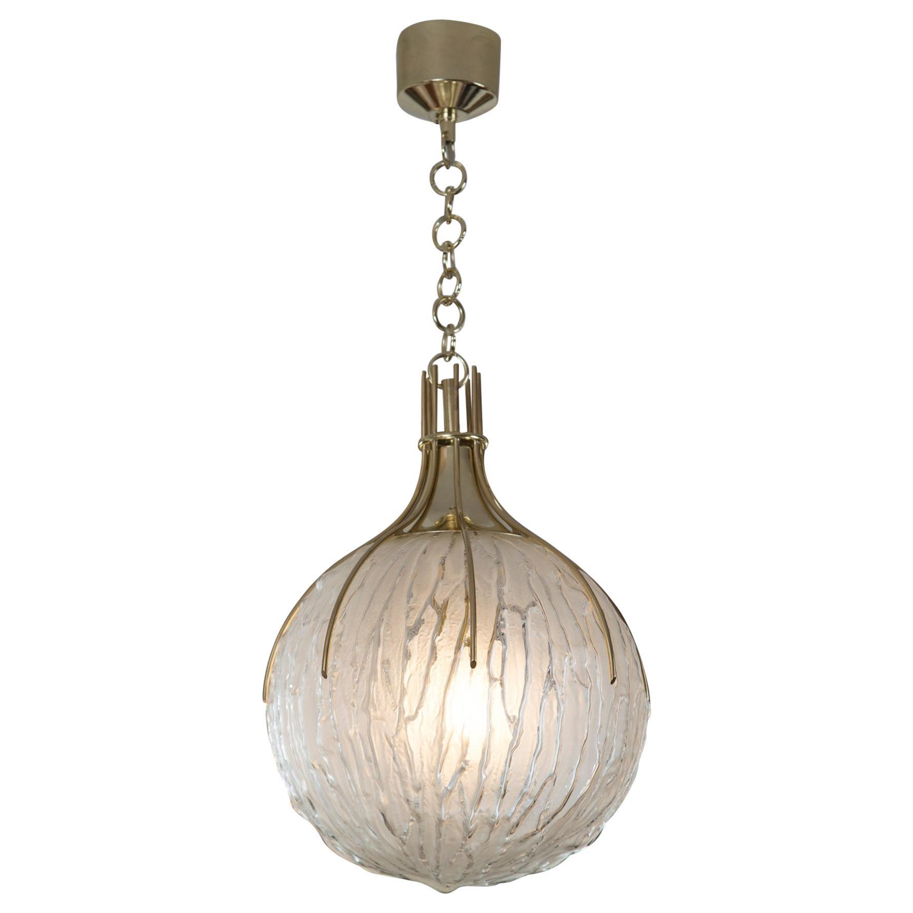 Vintage Italian Pendant Light by Angelo Brotto