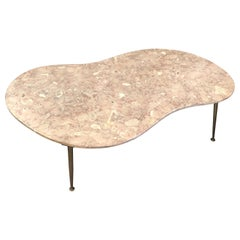 Vintage Italian Pink Marble Coffee Table