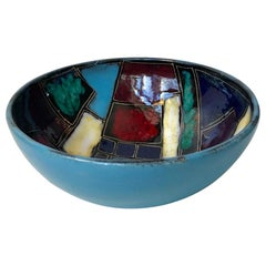 Vintage Italian Pottery Dish or Bowl in the style of Marcello Fantoni, 1960s