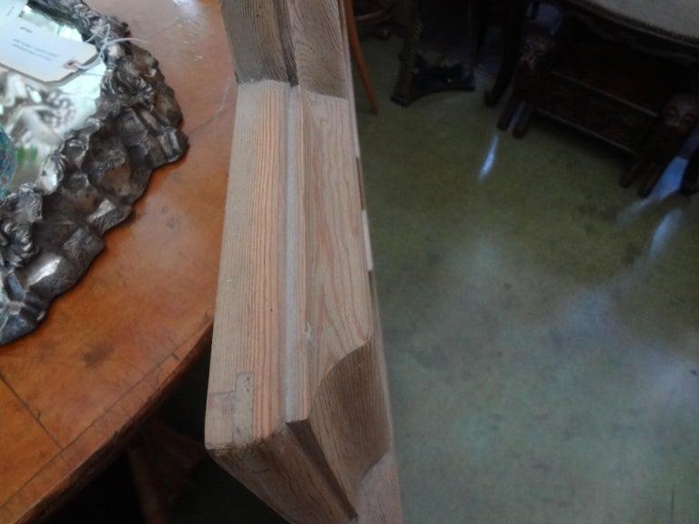 Large Italian Quatrefoil Wood Mirror For Sale 1
