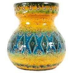 Vintage Italian Rimini Blue Vase by Aldo Londi for Bitossi, 1960s