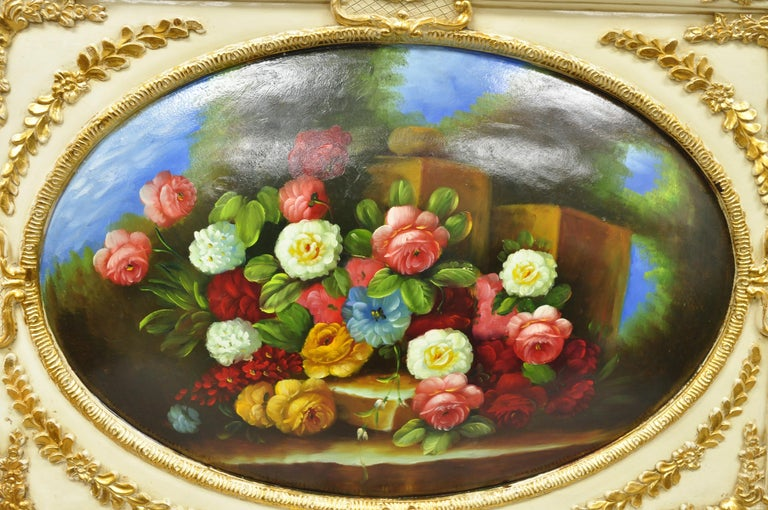 Chinese Vintage Italian Rococo Flower Still Life Wall Art Painting by Mirtex Trading For Sale