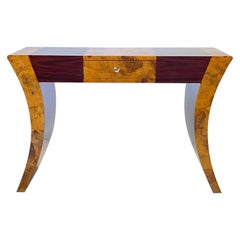 Vintage Italian Rosewood and Burlwood Console or Writing Table