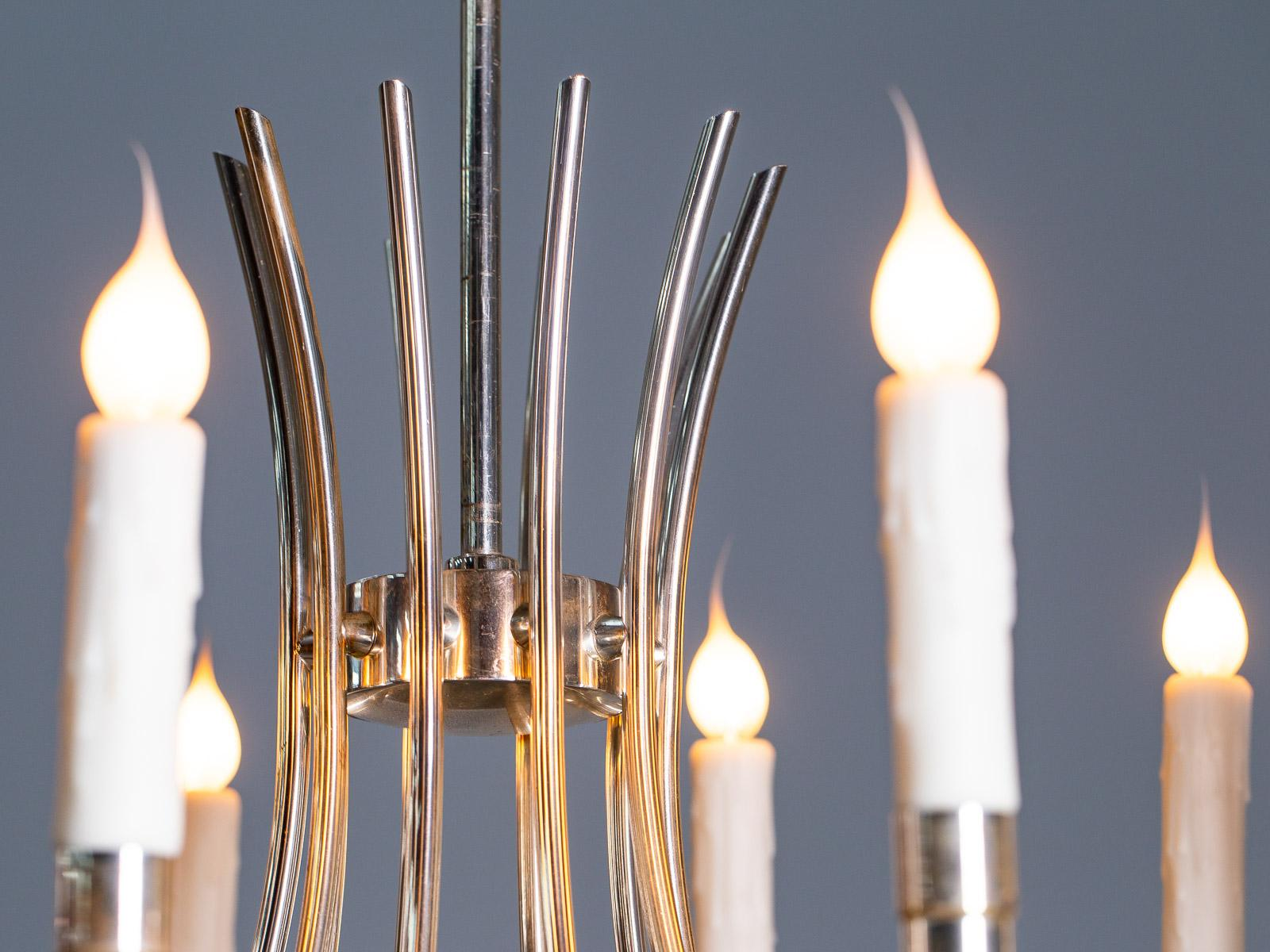 Kronleuchter Vintage Silber ~ Vintage italienischer kronleuchter mit zehn lichtern aus silber