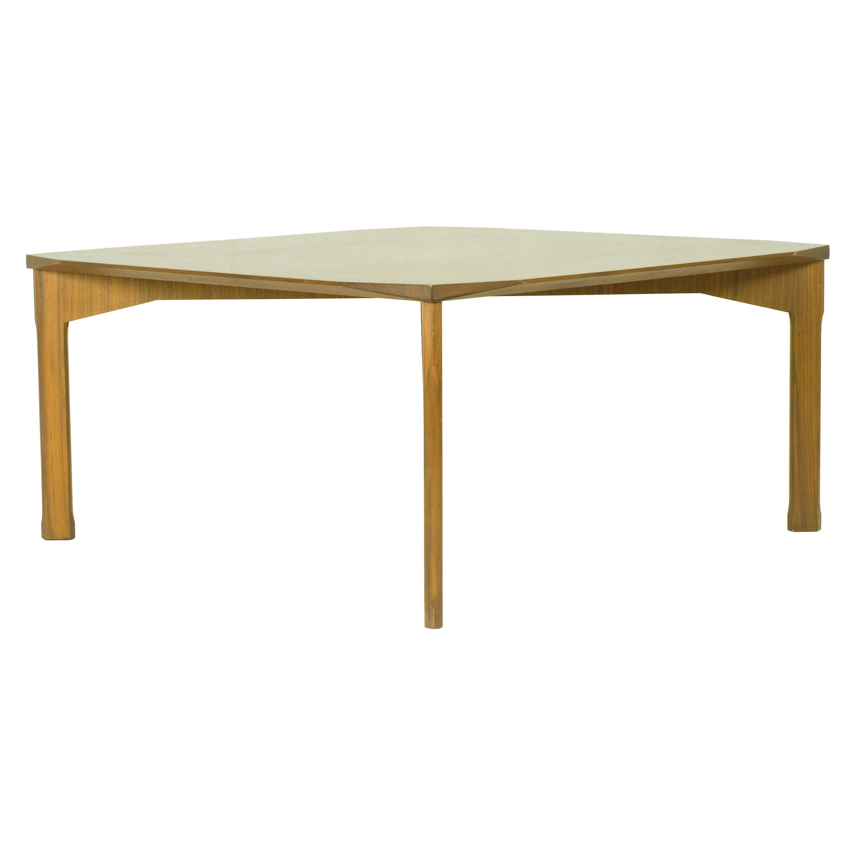 Vintage Italian Square Teak 1960s Coffee Table