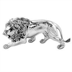 Vintage Italian Sterling Silver Lion Model Figure Statue, c. 1960