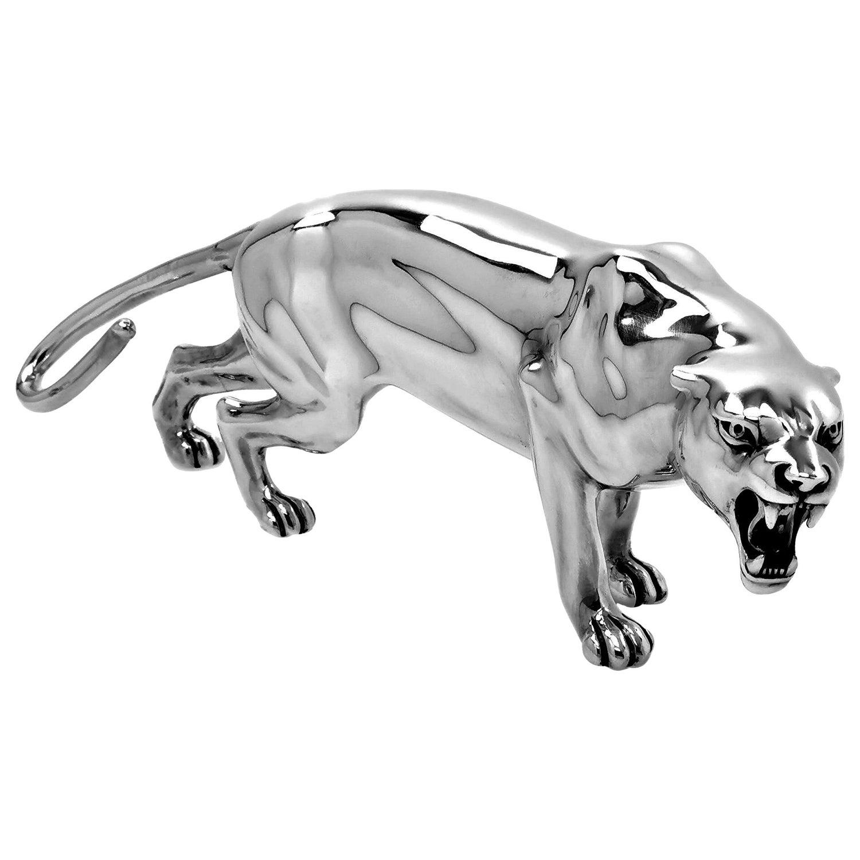 Vintage Italian Sterling Silver Lioness Model Figure Statue, C. 1960