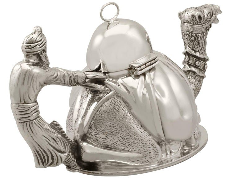 Vintage Italian Sterling Silver Teapot In Excellent Condition For Sale In Jesmond, Newcastle Upon Tyne