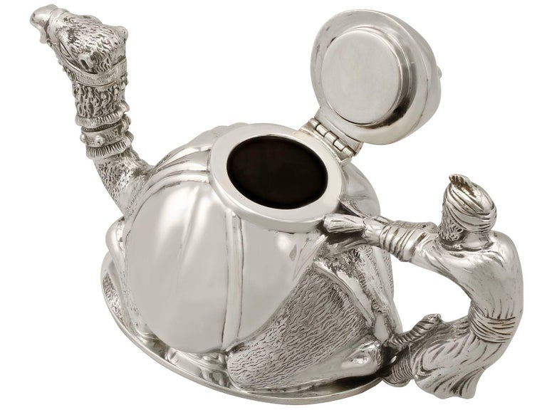 Vintage Italian Sterling Silver Teapot For Sale 1