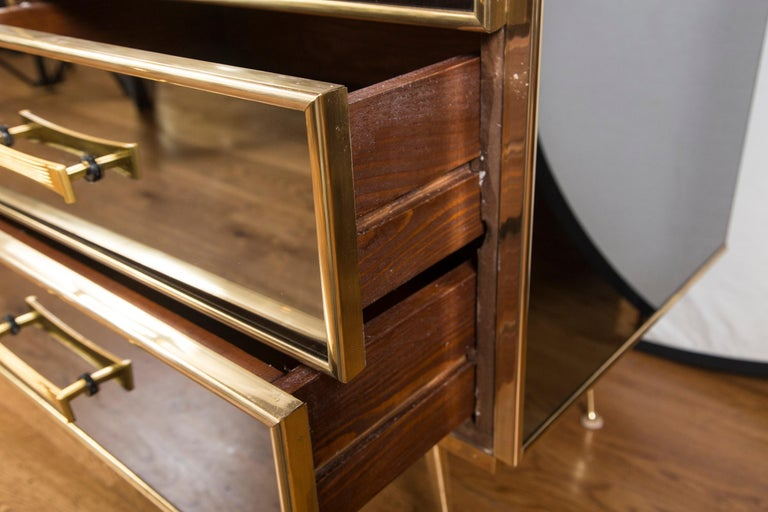 Vintage Italian Tinted Mirrored Dresser For Sale 5