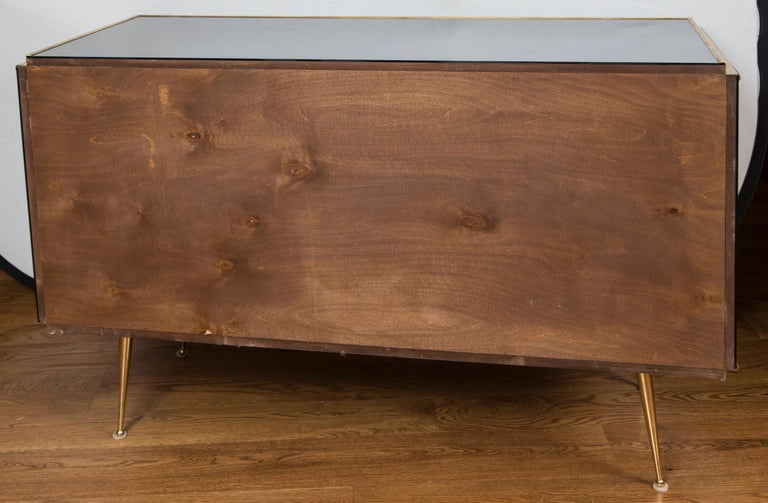 Vintage Italian Tinted Mirrored Dresser For Sale 7
