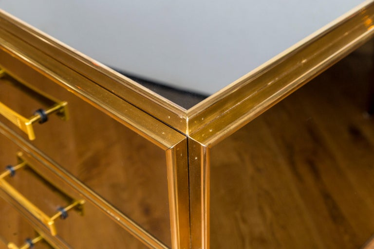 Vintage Italian Tinted Mirrored Dresser For Sale 2