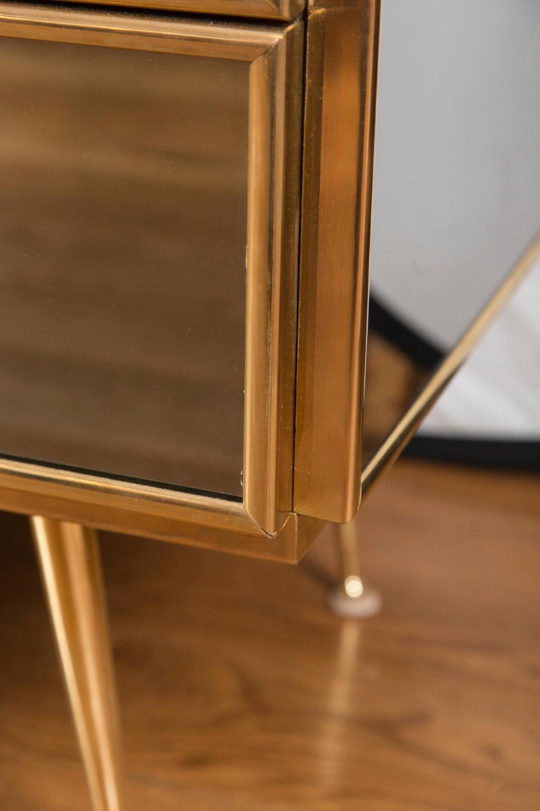 Vintage Italian Tinted Mirrored Dresser For Sale 3