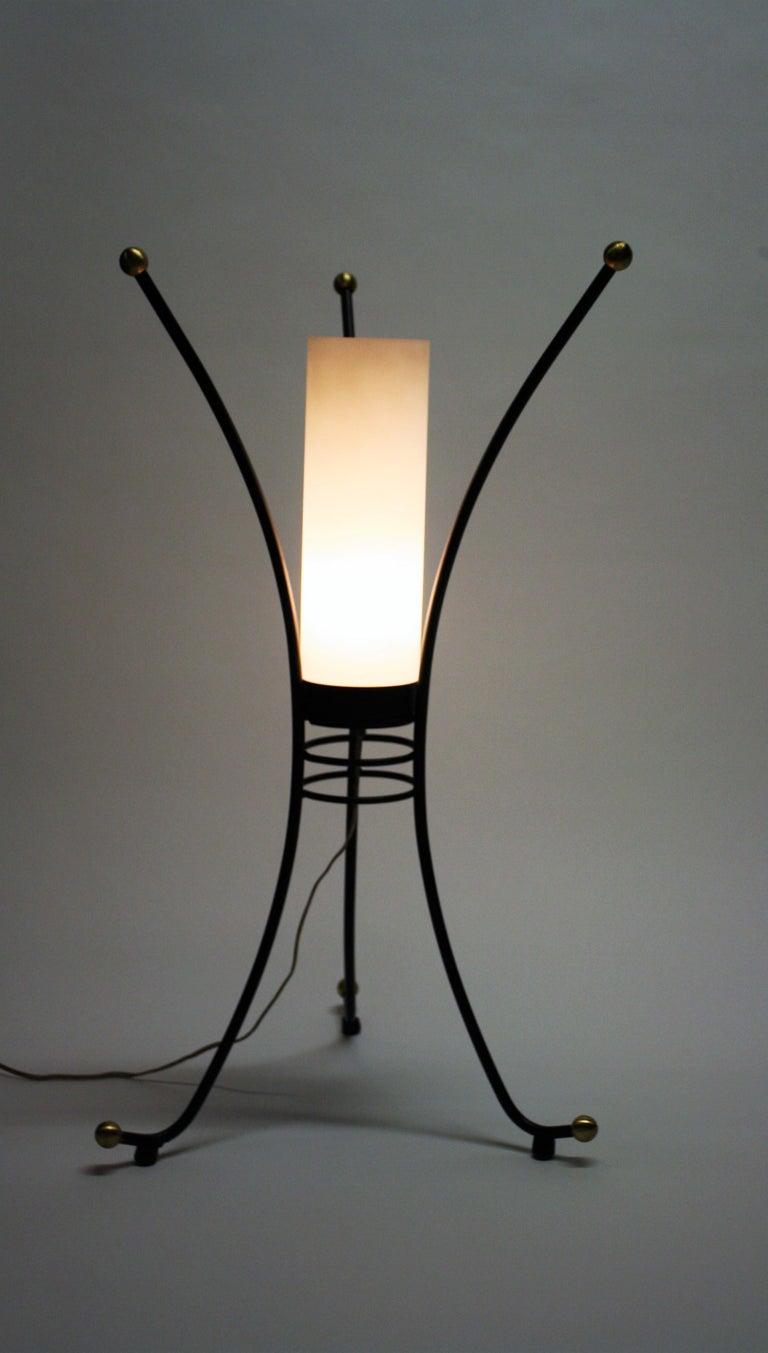 Vintage Italian Tripod Table Lamp, 1950s For Sale 2