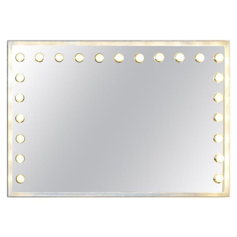 Vintage Italian Vanity Mirror with Lights For Sale