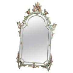 Vintage Italian Venetian Floral Mirror