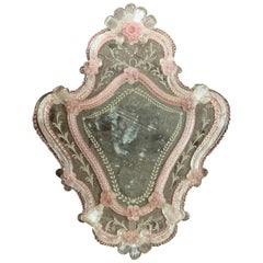 Vintage Italian Venetian Powder Room Mirror